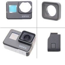 цена на Go Pro 5 7 Uv Filter Panel Cover 170 Degree Glass Ultra Wide Angle Ir Lens For Gopro Hero 7 6 5 Black Action Camera Accessories
