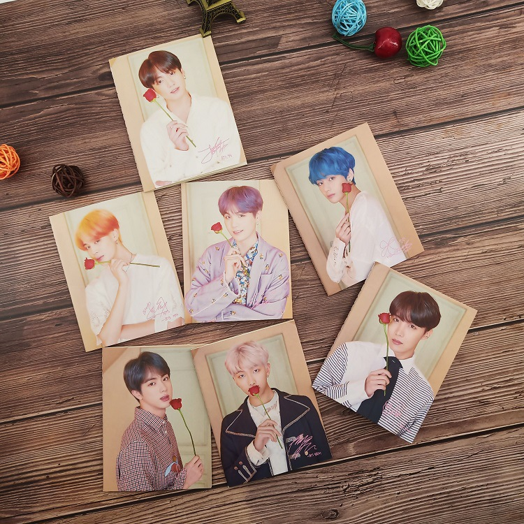 Creative Bangtan Boys Notebook Kpop Stationery Map Of The Soul Persona Album Protable Mini A5 Notepad Kpop Bangtan Boys