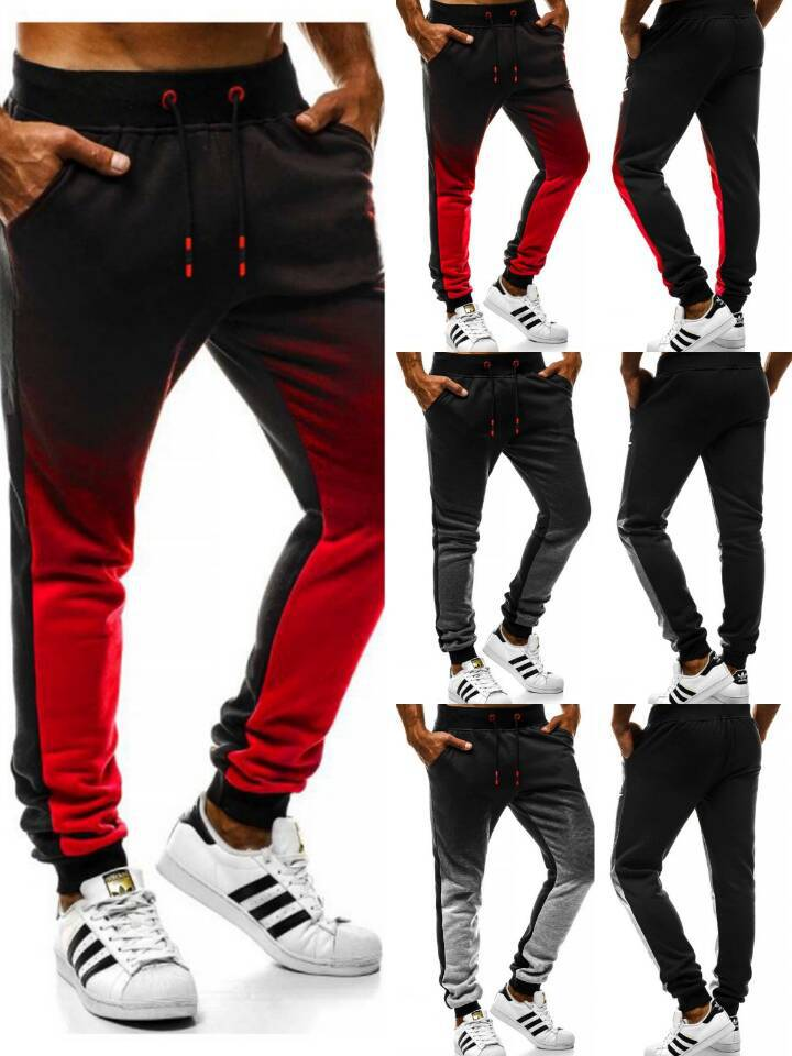 2020 Jogging Pants Men Running Trousers With Zipper Sports Fitness Tights Gym Jogger Bodybuilding Sweatpants Gradient Pants Male