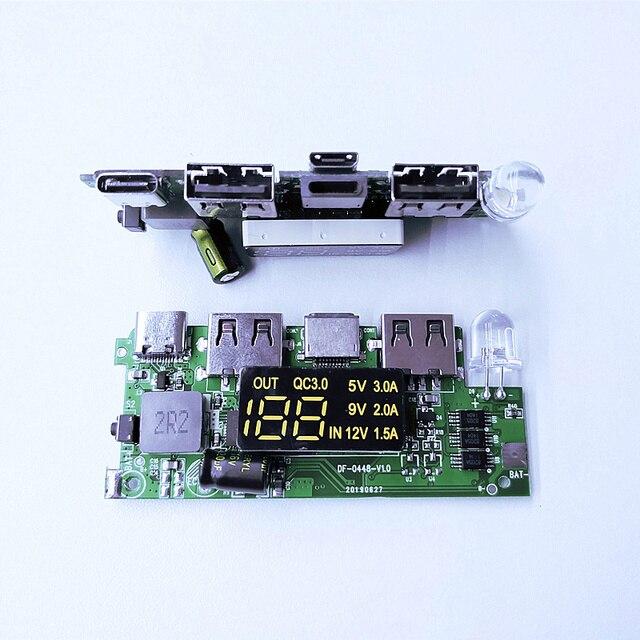 QC3.0 PD 18 Вт Быстрая зарядка материнская плата многопротокольный IP5328 ГБ ядро умная Быстрая Зарядка Внешний аккумулятор 12 В усилитель плата