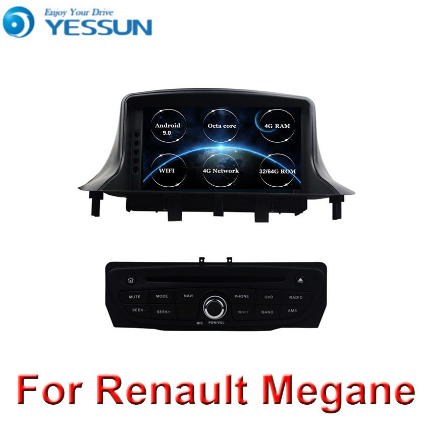 8 core <font><b>Android</b></font> 9 DSP Car DVD Player For Renault <font><b>Megane</b></font> <font><b>3</b></font> Fluence 2009+ stereo headunit GPS navigation radio tape recorder image