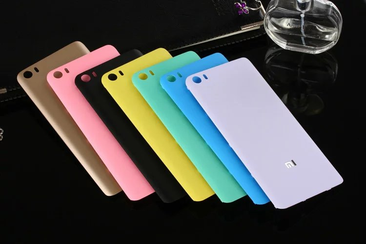Xiaomi5 <font><b>Mi5</b></font> 100% Original Rear Housing <font><b>Cover</b></font> For <font><b>XIAOMI</b></font> Mi 5 Back Door Plastic Matte Repair Replacement <font><b>Battery</b></font> Case + Sticker image