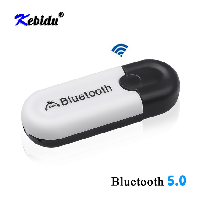 Kebidu 2 in 1 Wireless Bluetooth 5.0 Receiver Adapter Car AUX Audio USB Dongle Adapter 3.5mm Jack For Headphone Car Speaker Kit