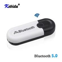 Kebidu adaptador receptor inalámbrico Bluetooth 5,0, adaptador Dongle USB de Audio AUX para coche, conector de 3,5mm para auriculares, Kit de altavoces para coche