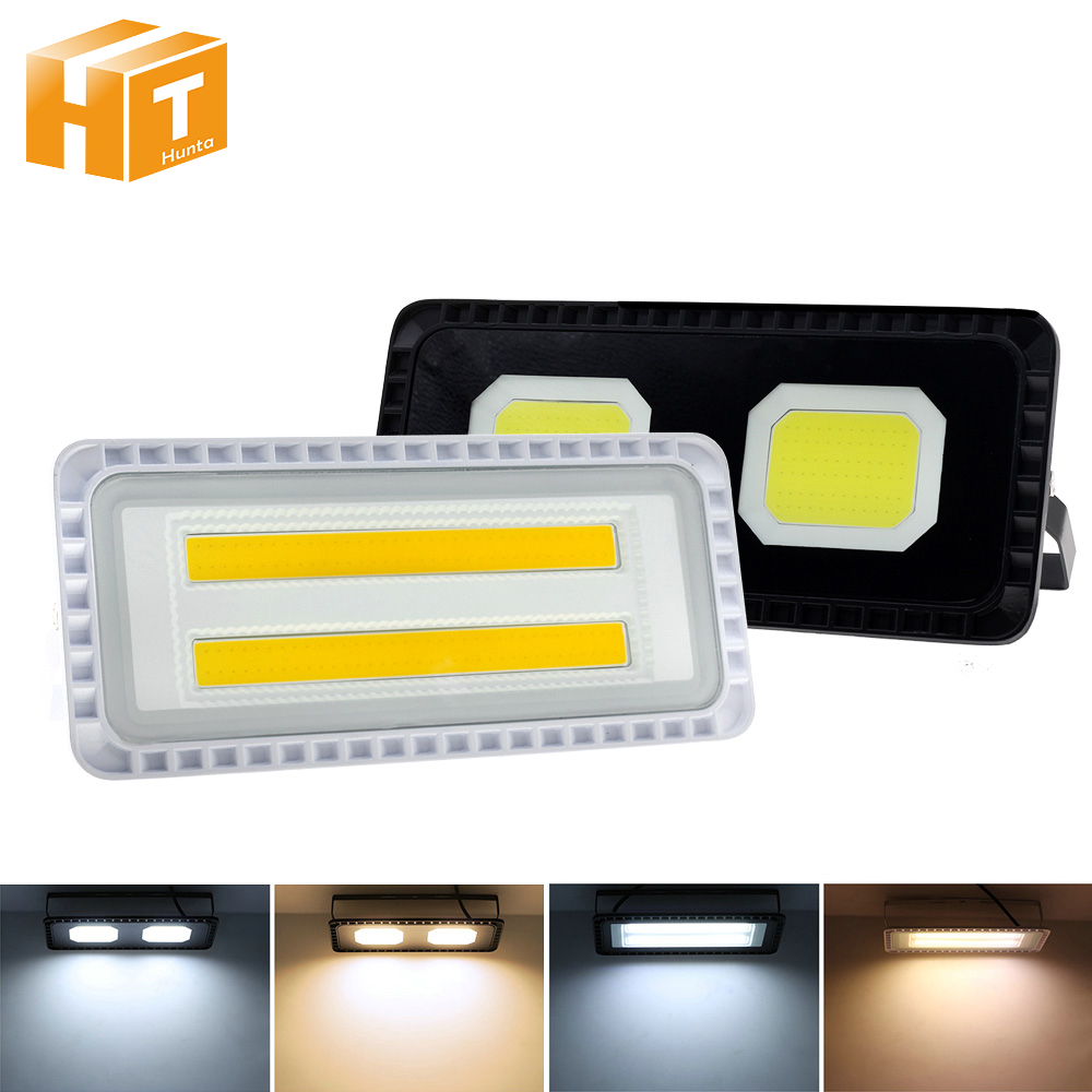 LED Floodlight AC220V 200W Outdoor LED Flood Light Spotlight IP66 Waterproof Street Lamp Landscape Lighting White Warm White