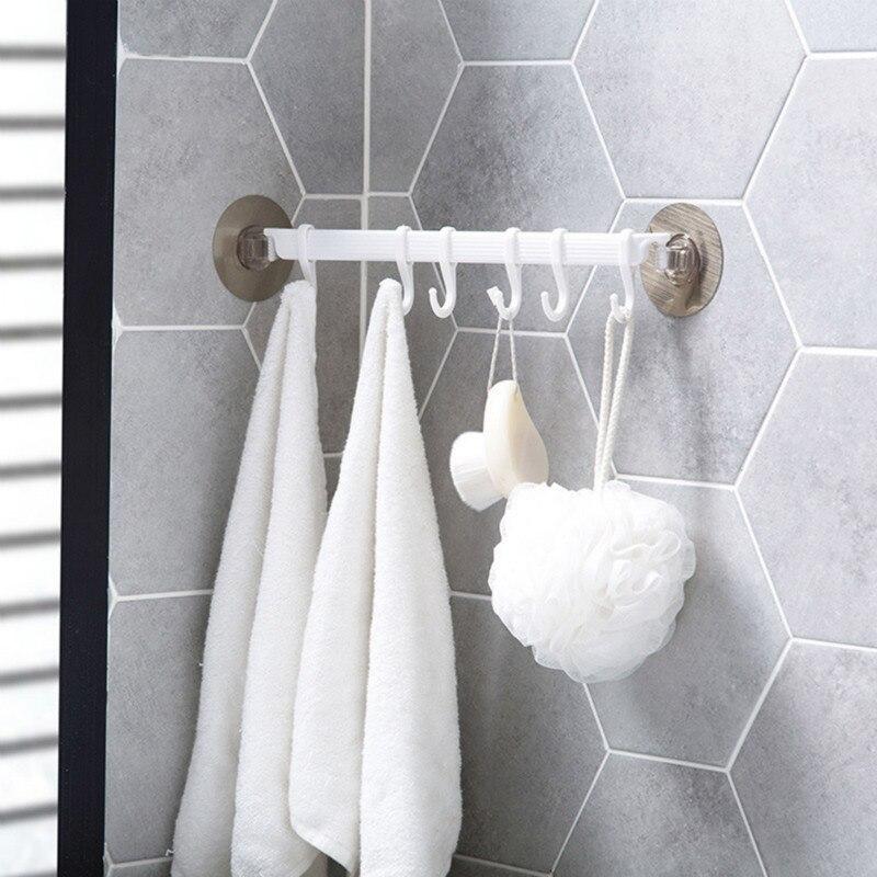 1pcs Bathroom Wall Hooks Coat Hanger Door Hooks For Kitchen Accessories Storage Rack Bathroom Organizer Shelf Wall Hanging Hooks