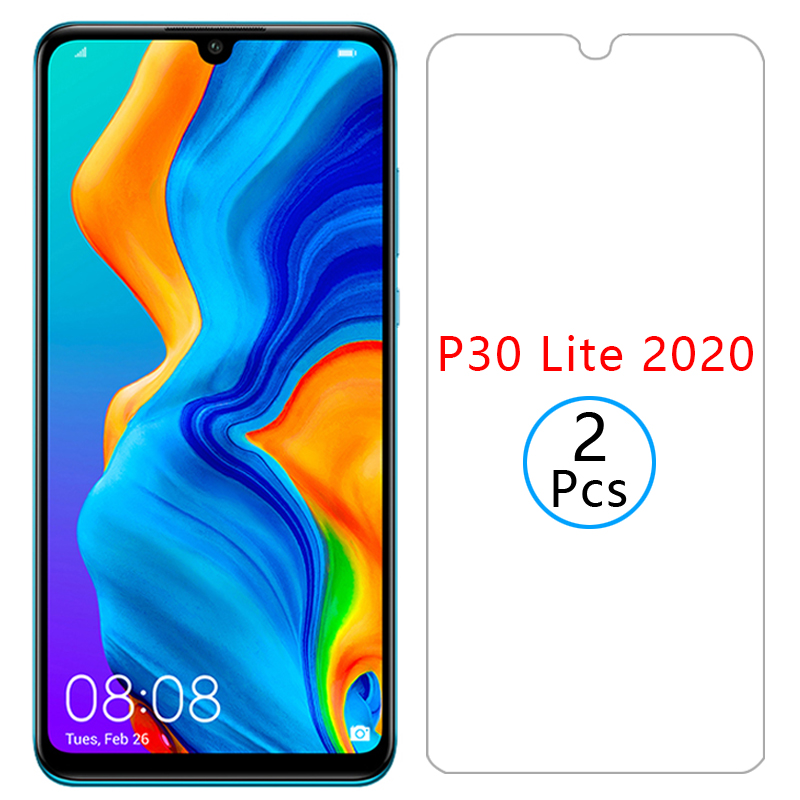 protective glass for <font><b>huawei</b></font> <font><b>p30</b></font> lite 2020 <font><b>screen</b></font> <font><b>protector</b></font> tempered glas p 30 light p30lite film huawey huwei hawei Marie-L21BX image