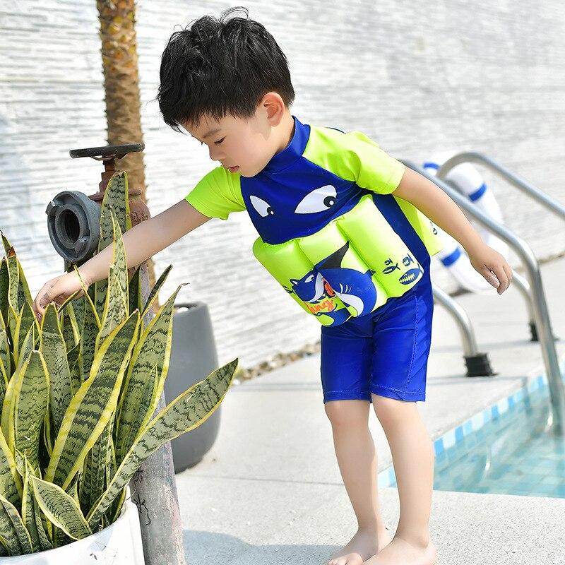 New Style Men And Women Korean-style Children Parcel EVA Cotton Buoyancy Version Safe Comfortable One-piece Swimming Suit