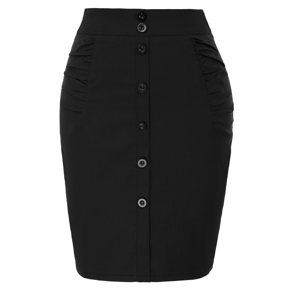 Fashion Womens OL Causal Stretchy Hips-Wrapped Pencil Skirt Midi Office Bodycon
