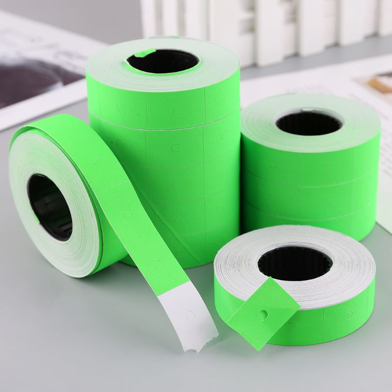 10 Rolls 5000 Pieces Double Row Colorful Price Label Paper Tag Mark Sticker For MX-6600 Labeller Gun LX9A