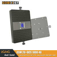 2G GSM 4G DCS Cell phone Mobile Phone Amplifier Signal Booster Repeater LCD display LTE 1800 Internet Dual band 900mhz 70dB Gain