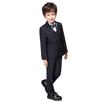 YuanLu Boys Suits For Wedding Party Piano British Style Kids Suits Baby Tuxedo Child Wedding Dress Set Formal Costume Gentleman