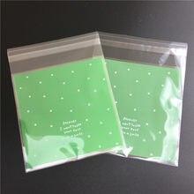 100 pçs/lote Skyblue Rosa Auto-adesivas de Plástico Saco da Embalagem Do Bolinho Decoração Saco do Presente Dos Doces Do Casamento 10*10cm