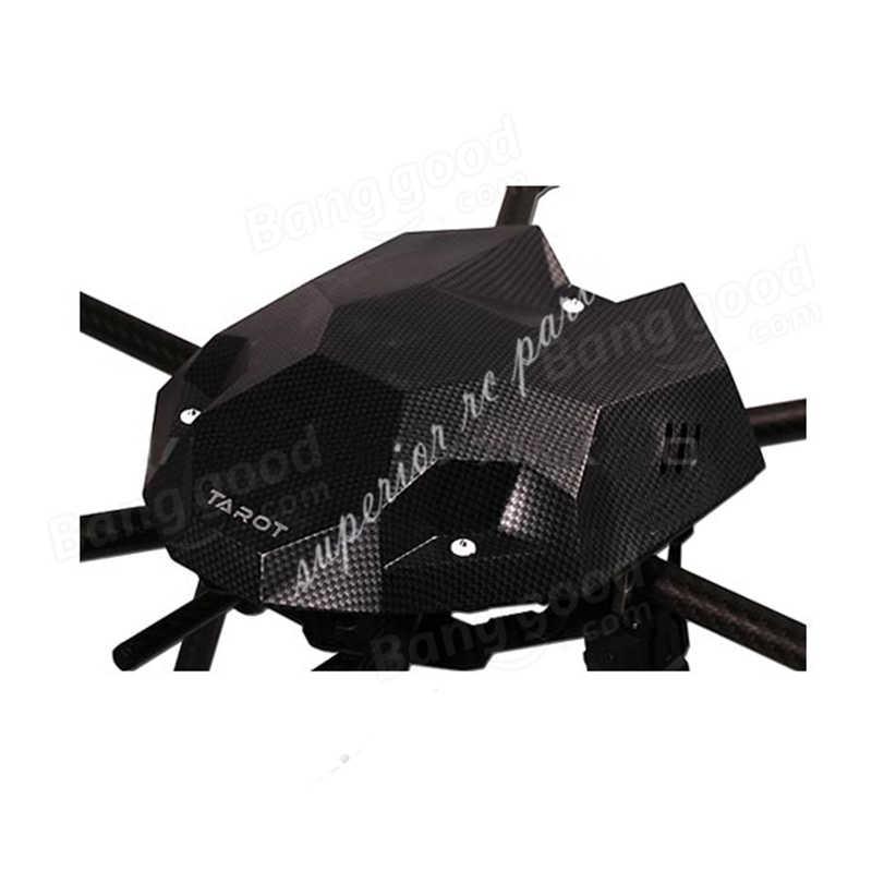 รูปแบบคาร์บอนไฟเบอร์ Canopy สำหรับ TAROT 680 PRO FY680 ชิ้นส่วน Quadcopter กรอบสีดำ TL2851 16% OFF