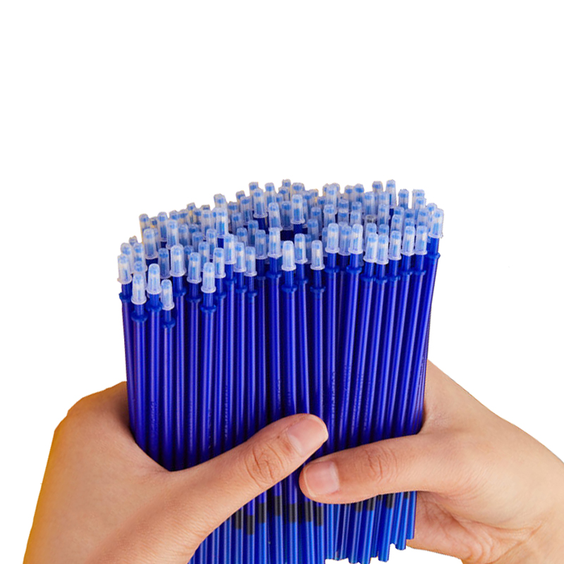 100 Pcs/Set Office Signature Shool Gel Pen Refill Rod Magic Erasable Pen Refill Accessories 0.5mm Blue Black Ink Writing Tools