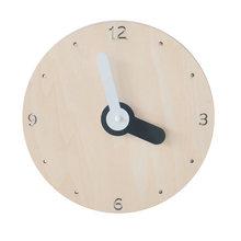 22 см настенные часы деревянные круглые на батарейках бесшумные