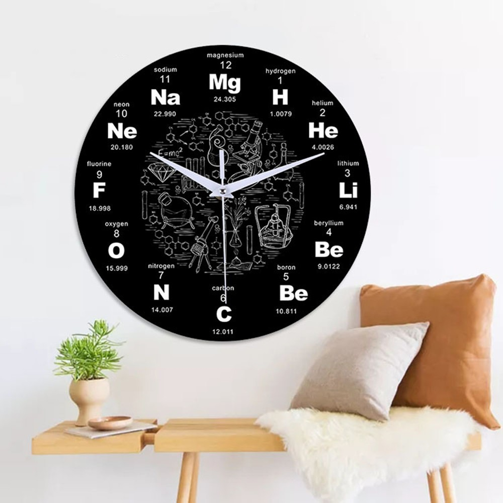 2019 Chemical Wall Clock Elements Periodic Acrylic Science Chemistry Symbol Classroom Teachers Gift