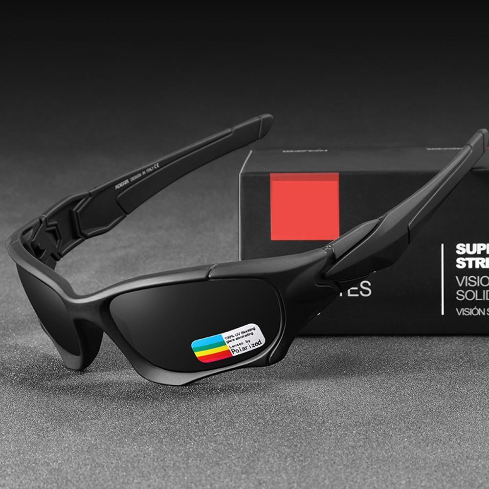 Spor ve Eğlence'ten Balıkçı Gözlükleri'de Polarize güneş gözlüğü erkekler kadınlar balıkçılık gözlük UV400 Anti parlama spor gözlük bisiklet Golf koşu yürüyüş balıkçılık gözlük title=