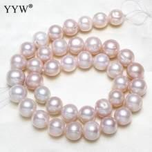 Perle tonde naturali perle bianche coltivate d'acqua dolce 10-12mm Per gioielli che fanno perle all'ingrosso delle donne vendute Per filo da 15
