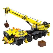 665pcs Crane Building Blocks City Engineering Technic Machine Car Vehicle Enlighten Bricks Construction Toys Gifts For Children