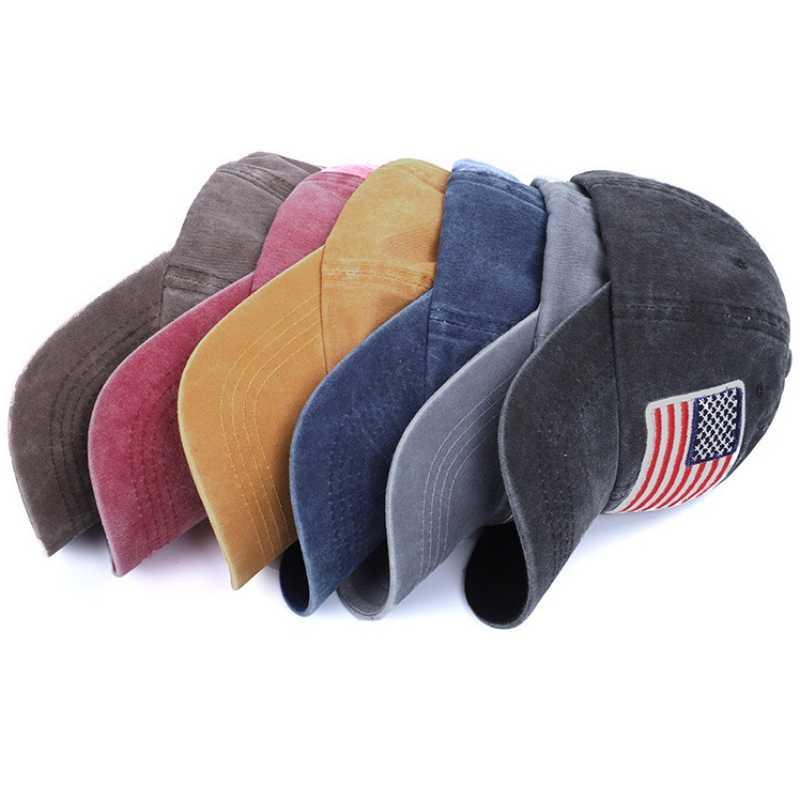Gorra de béisbol ajustable Unisex Vintage lavado carta de mezclilla Snapback sombrero hueso bordado Hip Hop camionero gorra Tenis hombres sombrero
