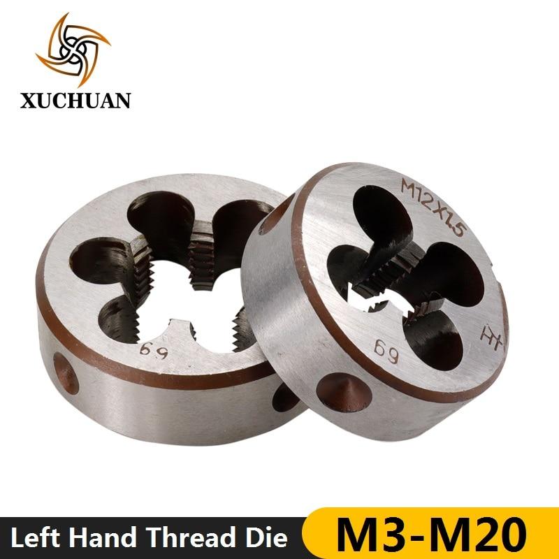 1pc M3 M6 M8 M10 M12 M14 M16 M18 M20 Left Hand Machine Thread Die Metalworking Screw Thread Machine Metric Die