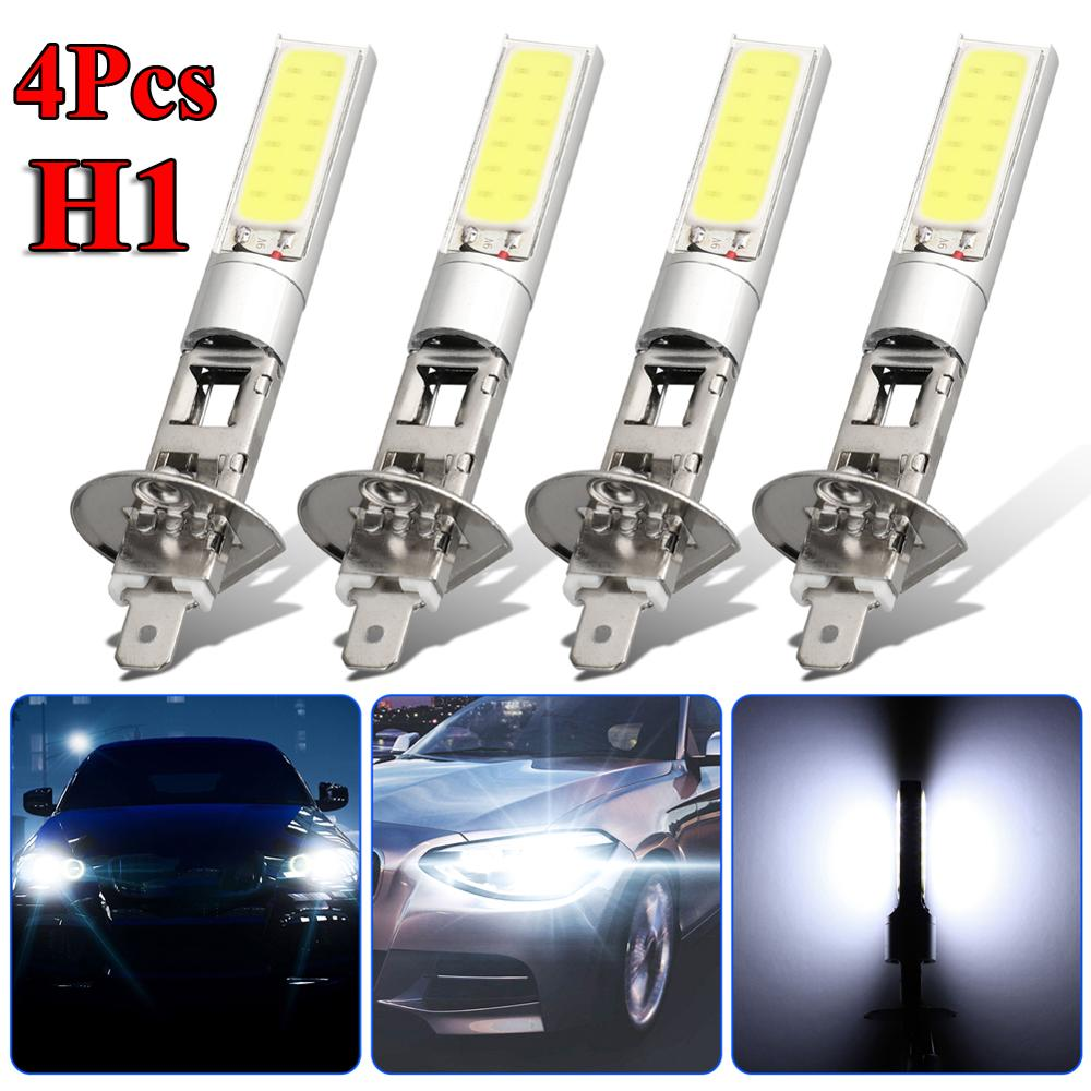 High Brightness 4pcs H1 12V Waterproof LED Headlight High Low Beam Light SMD Bulbs Vehicle Lamp Wholesale Quick Delivery CSV