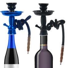 هانيبوف الألومنيوم الشيشة الشمبانيا زجاجة نبيذ أعلى المعادن النرجيلة الجذعية عدة هوكيتو تشيتشا نارجيلة مجموعة اكسسوارات النرجيلة