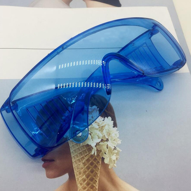 Safety Goggles Dustproof Eyewear Over Glasses UV Protective Lens Sunglasses Anti-Saliva Mask Anti Flu Anti-splash Glasses 3