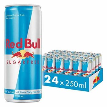 Red Bull Energy Drink Sugar Free 24 Pack of 250 ml, Sugarfree