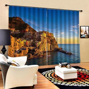 city curtains Customized size Luxury Blackout 3D Window Curtains For Living Room Blackout curtain