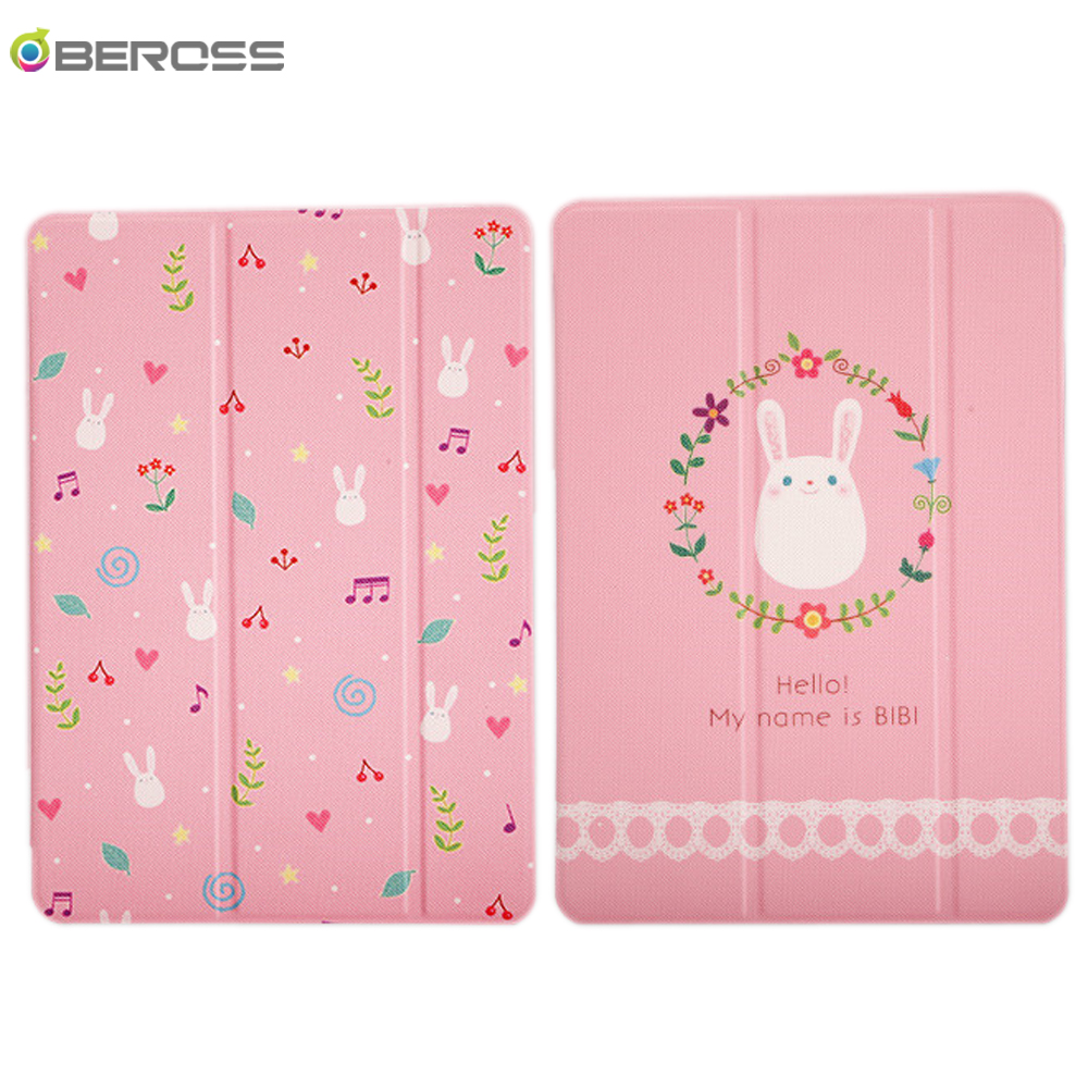 Cute Cover For IPad 2017 2018 Air1 2 3 Rabbit Painted Shockproof Sleep Wake UP Stand Fundas Mini 1 2 3 4 5 Case 10.2 2019 10.5