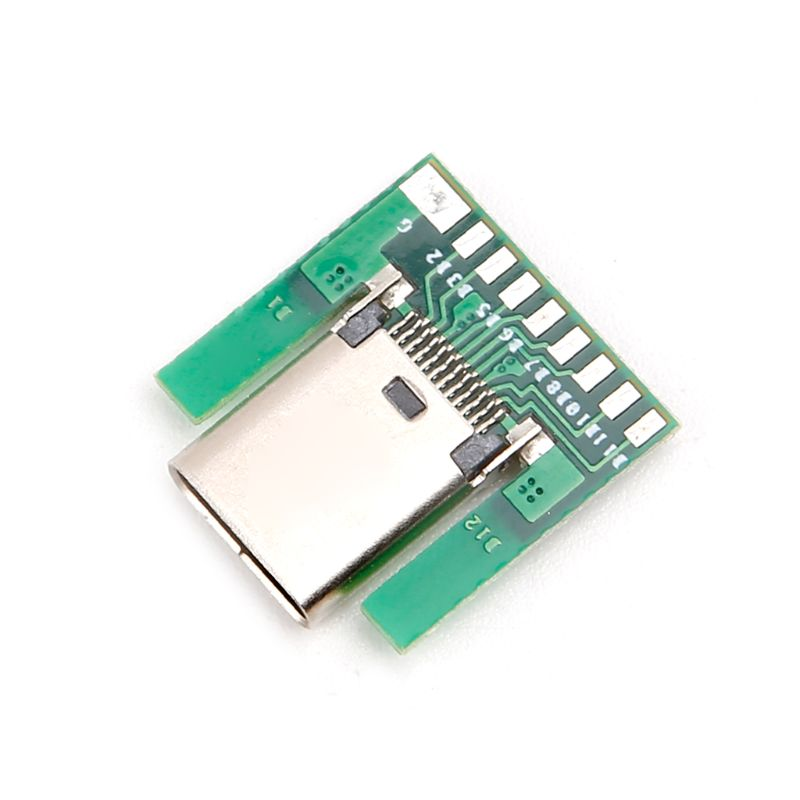 USB 3.1 Type C Female Socket Connector Plug SMT Type With PC Board DIY 24pin