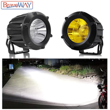BraveWay LED Work Light 12V 24V Fog Lamps Extra Light for Off Road 4x4 ATV Truck Assisted Lamp Motorcycle Auxiliary Driving DRL