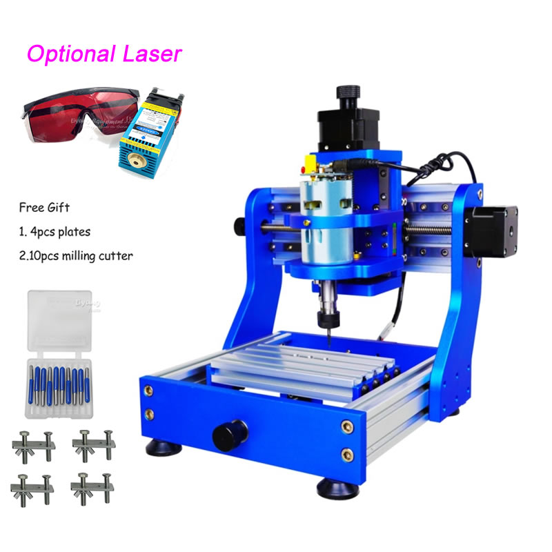 CNC 1310 PRO Desktop Engraving PCB Milling Machine Wood Carving Optional 500MW 2500MW 5500MW Laser Function With Square Rail
