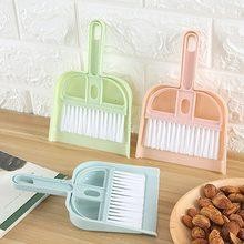 Mini escova de limpeza pequena vassoura dustpans conjunto desktop vassoura pá limpeza de lixo mesa ferramentas limpeza do agregado familiar