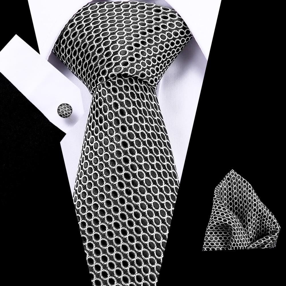 Wedding 7.5 Cm  100% Silk Men's Neck Ties Striped Ties Set For Men Formal Dress Business Luxury Neckties Gift For Mens Ties