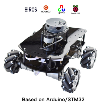 ROS Autopilot Mecanum Wheel Robot Car Chassis Kit With Arduino Controller Raspberry Pi Lidar Positioning Automated Driving