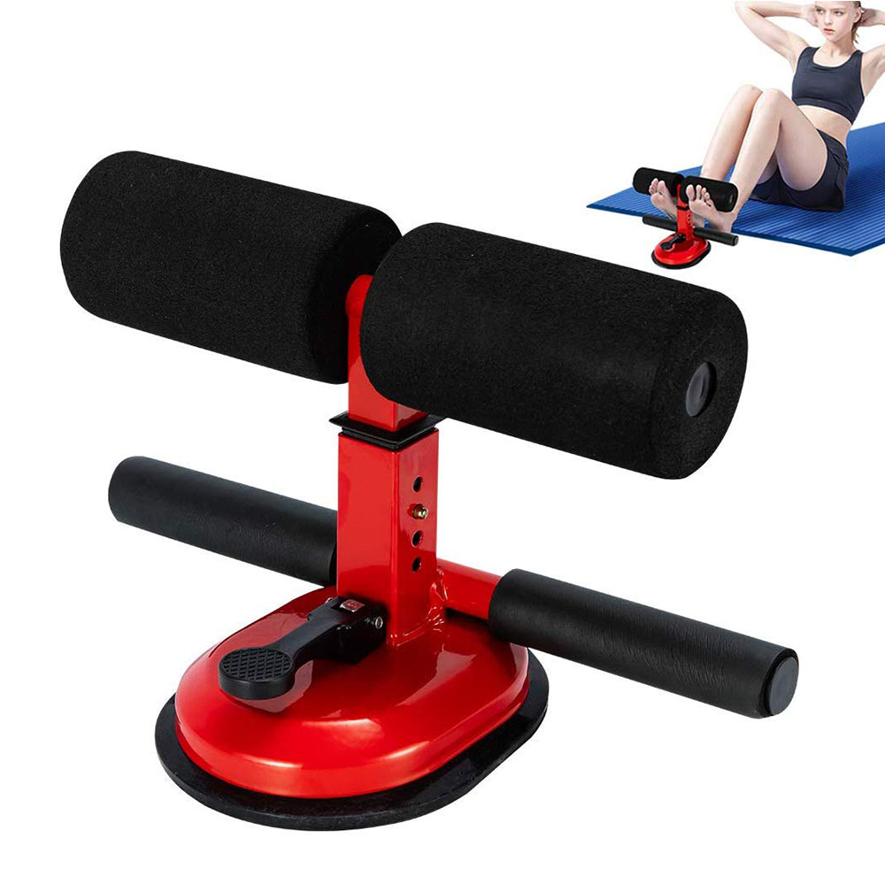 Sit Up Bar Floor Assistant Exercise Stand Sucker Pad Support Sit-up Trainer Workout Fitness Equipment Home Gym Adjustable 4 Gear
