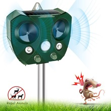 цены Outdoor Ultrasonic Animal Repellent Solar Pest Repeller Pest Mouse Repeller PIR Sensor Garden Bird Cat Dog Fox Repellent