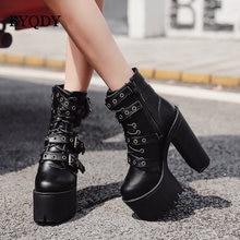 Byqdy/осенние женские ботильоны; Мотоциклетная обувь с четырьмя