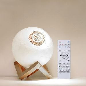 Image 1 - Quran Bluetooth Speakers Remote Control LED Nigt Moon Lamp Quran Speaker Y4QD