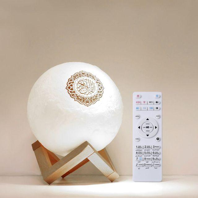 Quran Bluetooth Speakers Remote Control LED Nigt Moon Lamp Quran Speaker Y4QD