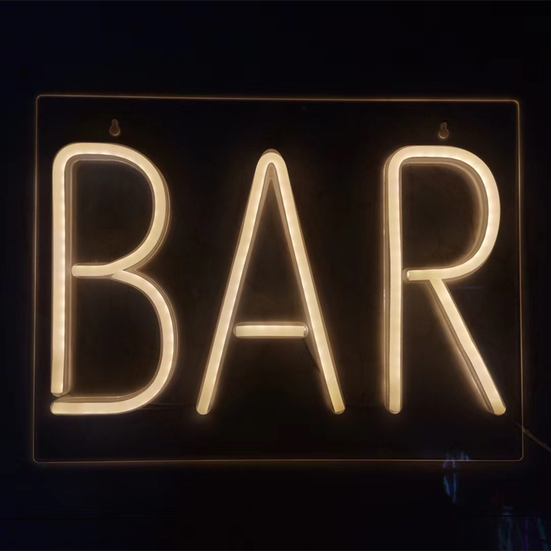Bar Led Neon Sign Neon Pub Letter Neon Top Business Store Sign Windows Neon Yellow for Bar Wine Cabinet Drinking Budweiser image