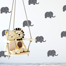 Cartoon Elephants Wall Stickers Vinyl Decor Kids Room Wallpaper Nursery Bedroom Decoration Decal Art Murals wallstickers LW488 vintage loft style industrial vintage wall light fixtures home clocks watches water pipe lamp edison wall sconce indoor lighting