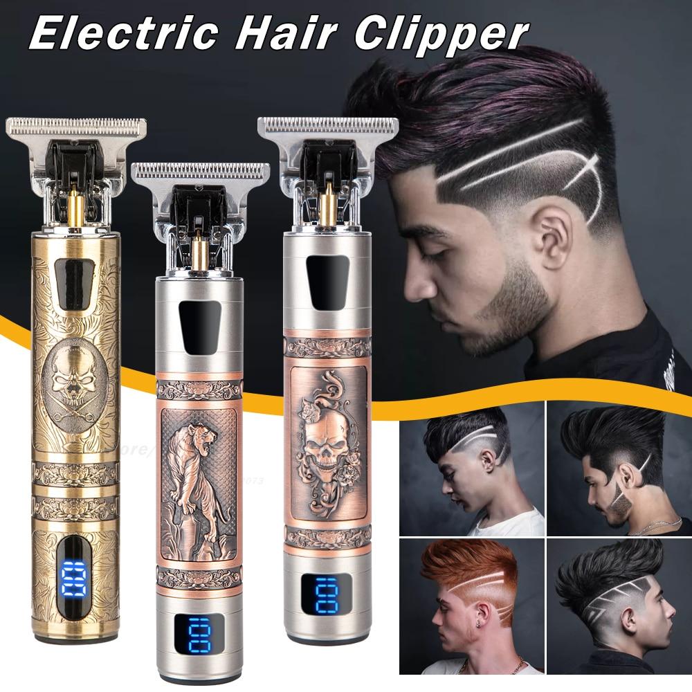2021 חשמלי שיער קליפר שיער גוזם לגברים נטענת חשמלי מכונת גילוח זקן בארבר שיער חיתוך מכונת עבור גברים שיער לחתוך