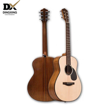 China guitarra Professional Acoustic guitar 36 inch Baby travel Spruce All Solid Wood musical Stringed instruments steel strings high quality 39 acoustic classical guitar wood color guitarra musical instruments with guitar strings