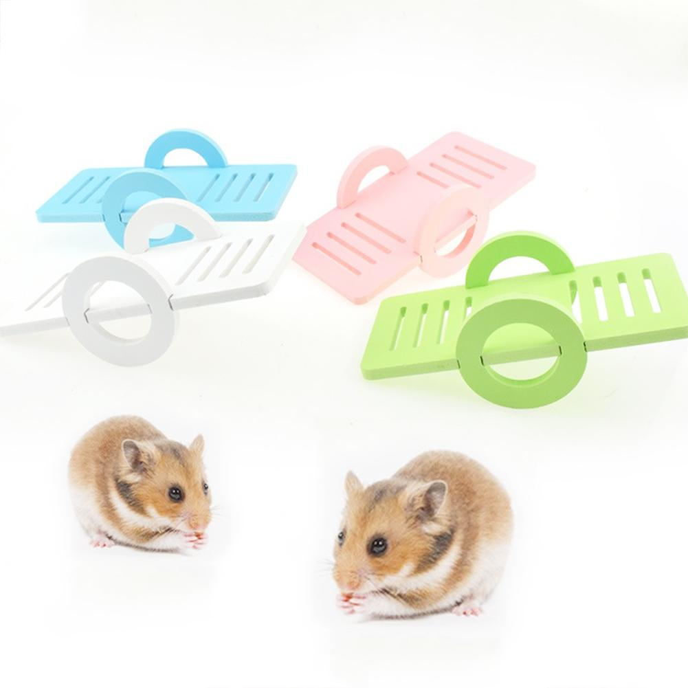 Eco Board Mini Seesaw Pet Hamster Chinchillas Small Animal Exercise Chew Toy