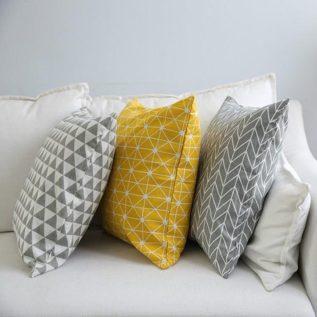 Купить чехол для подушки простой геометрический чехол диванной в клетку картинки цена