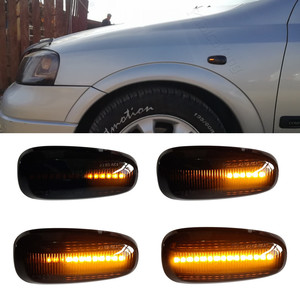 2PCS Car LED Dynamic Blinker Turn Signal Light Side Marker Lamp For Opel Zafira A 1999-2005 Astra G 1998-2009